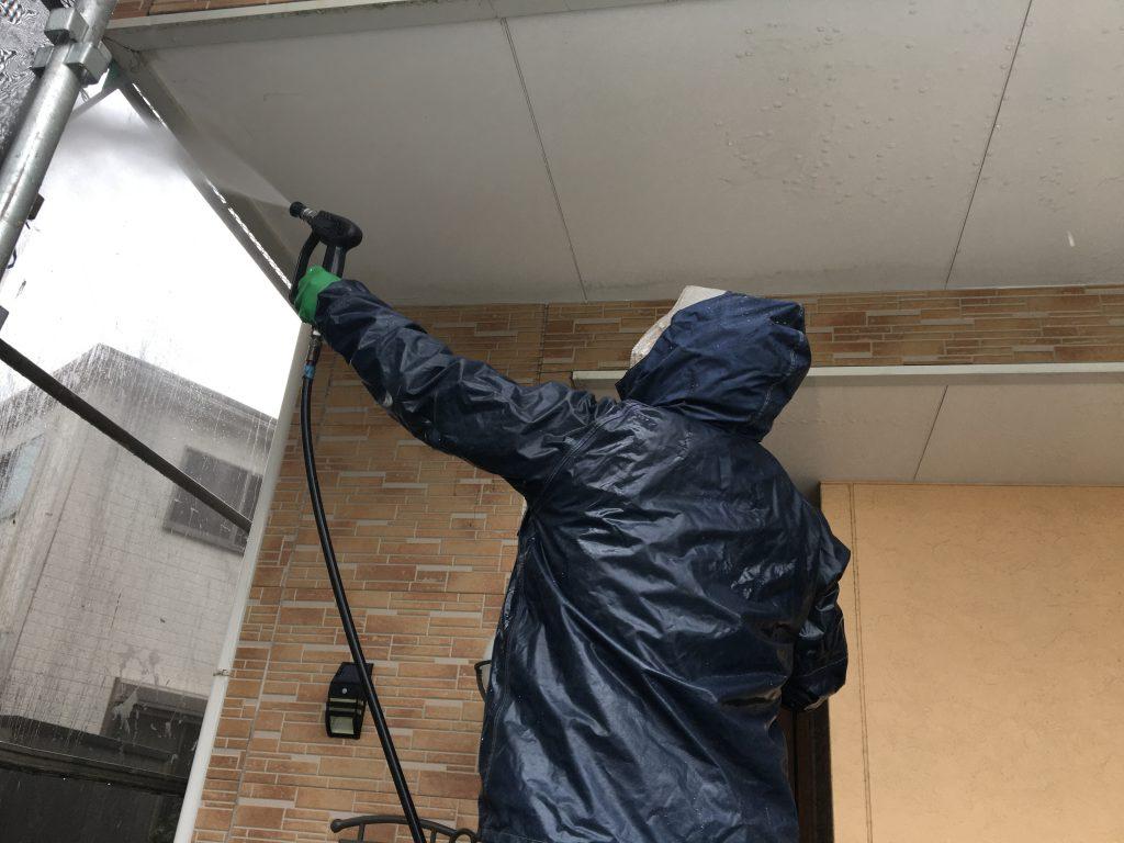 堺市中区 外壁塗装 高圧洗浄