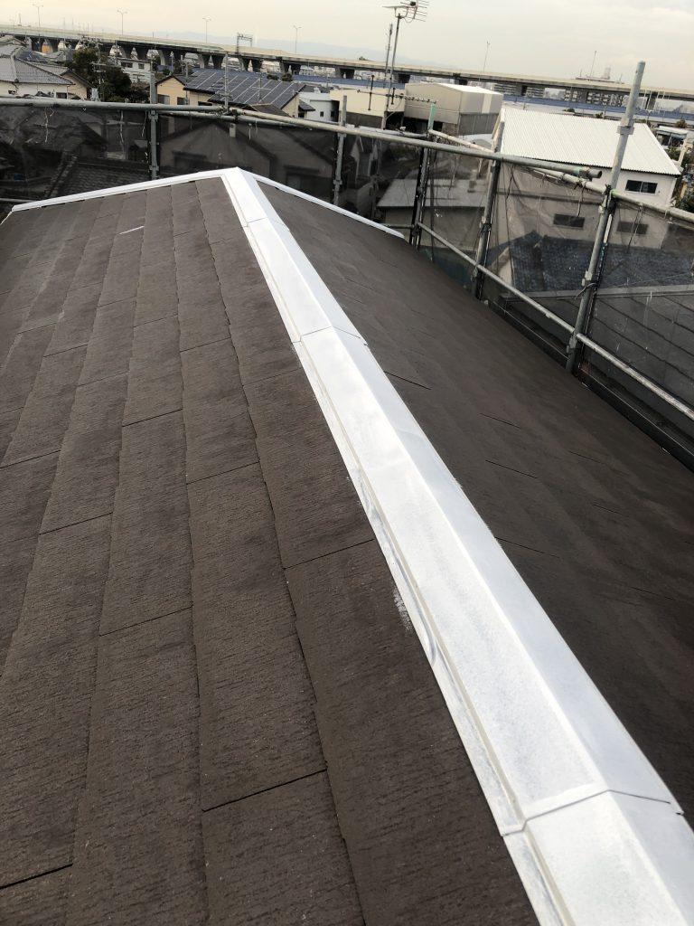 堺市中区 屋根 錆止め塗装