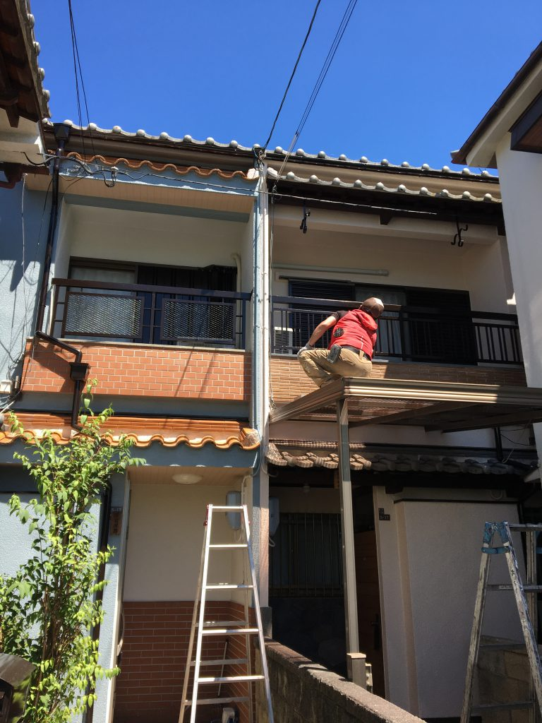 住吉区戸建て外壁塗装工事