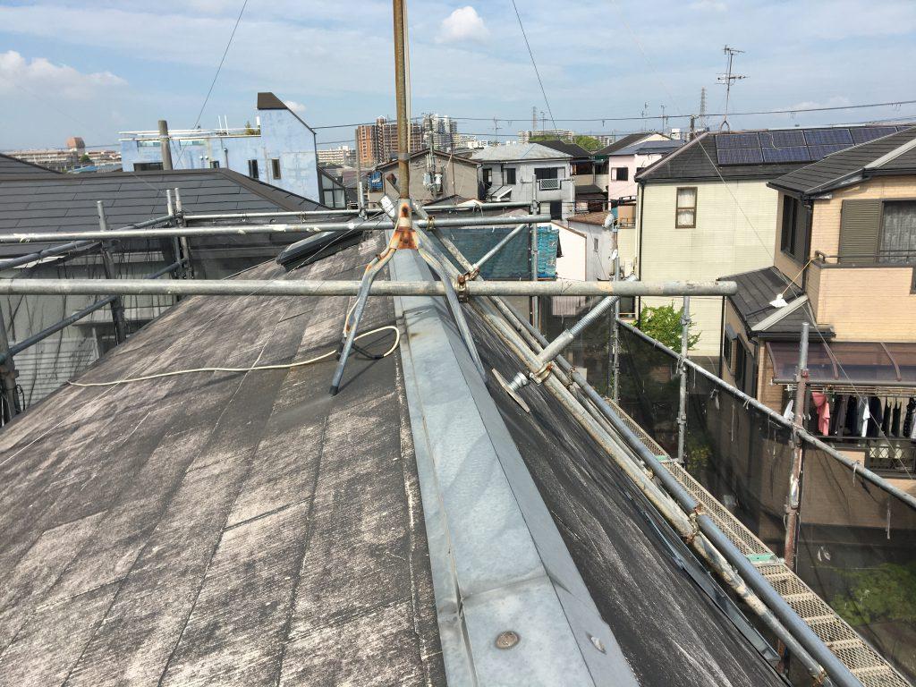 堺市東区 屋根洗浄