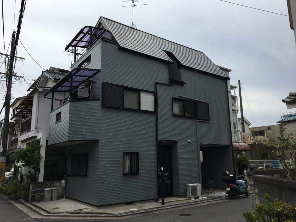 堺市東区 戸建て外壁塗装